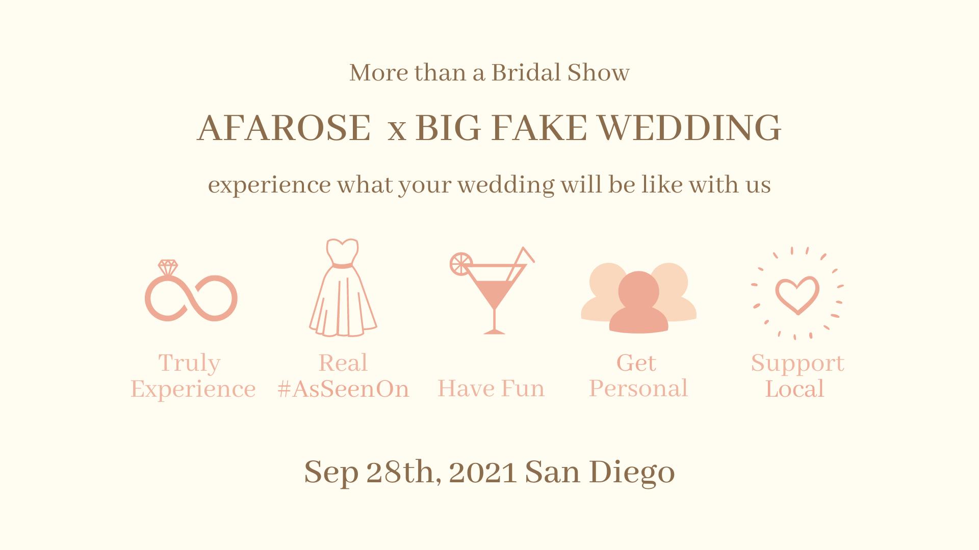 The Big Fake Wedding San Diego Event